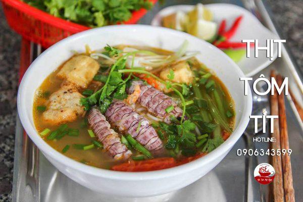 Thịt Tôm Tít nấu bún